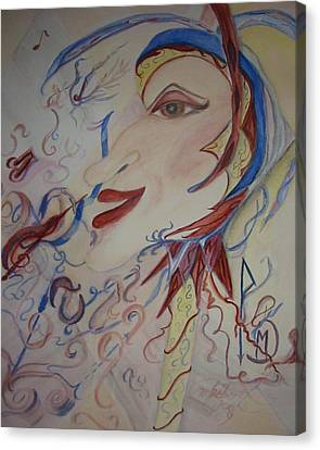 Music And Rune Jester Canvas Print by Marian Hebert