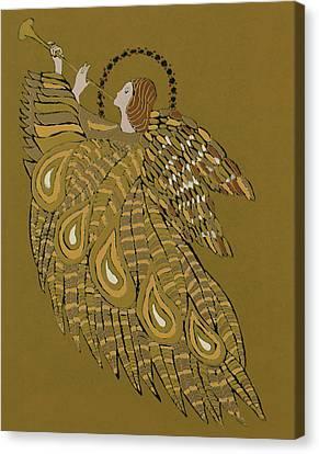 Musical Angel Canvas Print by Gillian Lawson