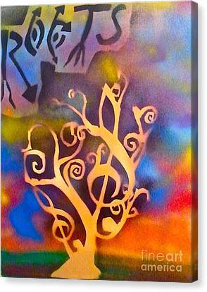 Musical Roots Canvas Print by Tony B Conscious