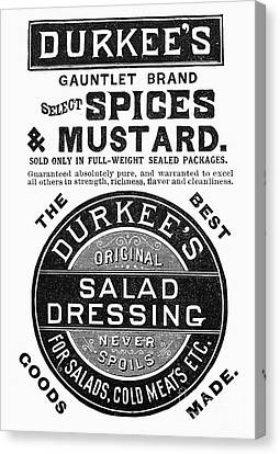 Mustard Ad, 1889 Canvas Print by Granger