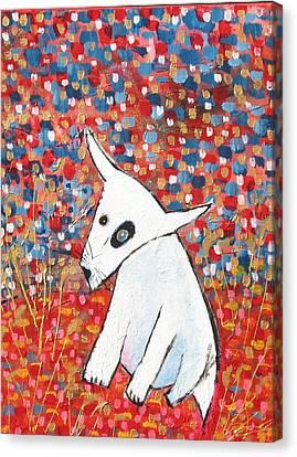 My Dog Blackie Canvas Print by Maureen Rocksmoore