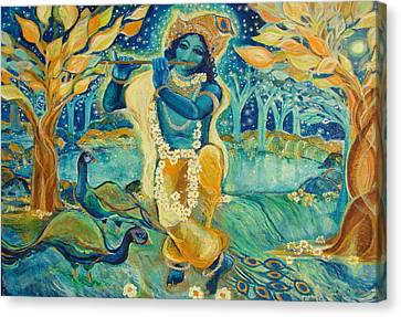 My Krishna Is Blue Canvas Print by Ashleigh Dyan Bayer