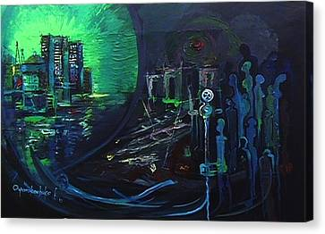 My People And The Great Divide Canvas Print by Oyoroko Ken ochuko