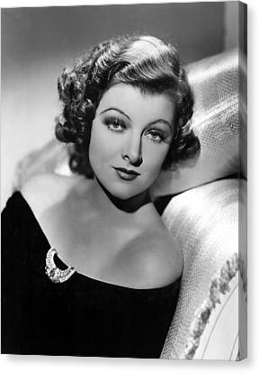 Myrna Loy By Clarence Sinclair Bull Canvas Print by Everett