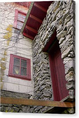 Mystery Of The Red Door Canvas Print by Sandi OReilly