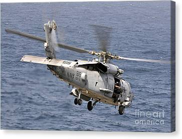 N Hh-60h Sea Hawk Helicopter In Flight Canvas Print by Stocktrek Images