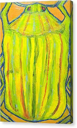 Naive Gold Bug Canvas Print by Kazuya Akimoto