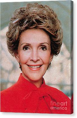 Nancy Reagan, 40th First Lady Canvas Print by Photo Researchers