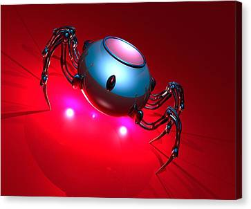 Nanorobot, Conceptual Artwork Canvas Print by Victor Habbick Visions