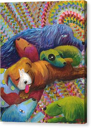 Nap Time Canvas Print by Nancy Rodger