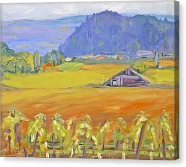 Napa Valley Mountains Canvas Print by Barbara Anna Knauf
