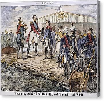 Napoleon I At Tilsit, 1807 Canvas Print by Granger