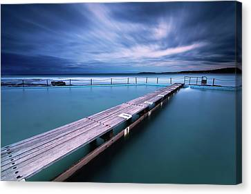 Narrabeen Tidal Pool By Night, Sydney, Australia Canvas Print by Yury Prokopenko