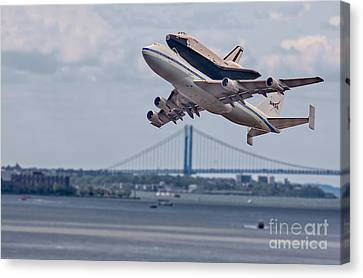 Nasa Enterprise Space Shuttle Canvas Print by Susan Candelario