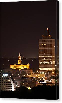 Nashville Cityscape 5 Canvas Print by Douglas Barnett
