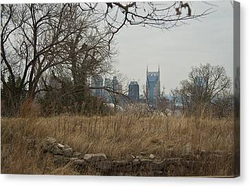 Nashville Skyline From The Fort Canvas Print by Douglas Barnett