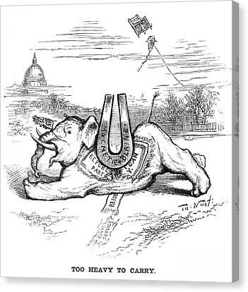 Nast: Blaine Cartoon, 1884 Canvas Print by Granger