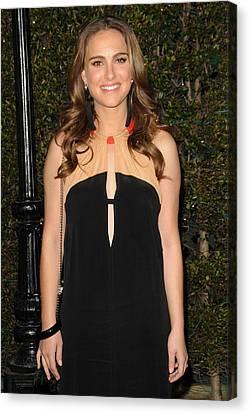 Natalie Portman Wearing A Vena Cava Canvas Print by Everett