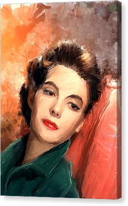 Natalie Wood Canvas Print by Scott Melby