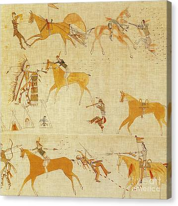 Native American Art Canvas Print by Photo Researchers