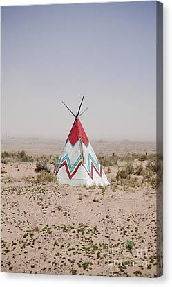 Native American Tipi Replica Canvas Print by Paul Edmondson