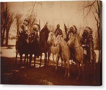 Native American Tribal Leaders Canvas Print by Everett