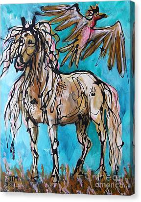 Native Rain Flyer Canvas Print by Jonelle T McCoy