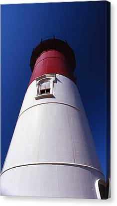 Nauset Beach Lighthouse Canvas Print by Skip Willits