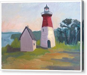Nauset Lighthouse Cape Cod Canvas Print by Suzanne Elliott