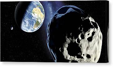 Near-earth Asteroid, Artwork Canvas Print by Detlev Van Ravenswaay