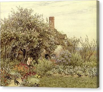 Near Hambledon Canvas Print by Helen Allingham