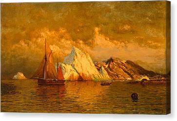 Near Midnight Labrador Canvas Print by William Bradford