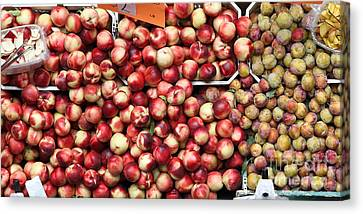 Nectarines And Pluots - 5d17905 Canvas Print by Wingsdomain Art and Photography