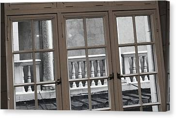 Neighbors Baluster Canvas Print by Anna Villarreal Garbis