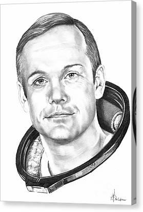 Neil Armstrong Canvas Print by Murphy Elliott