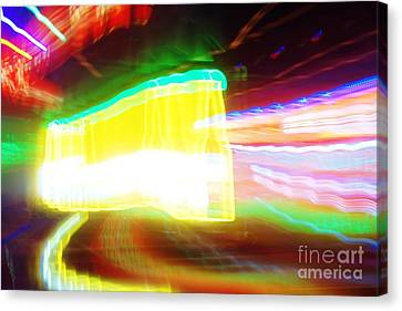 Neon Beer Canvas Print by Lynda Dawson-Youngclaus