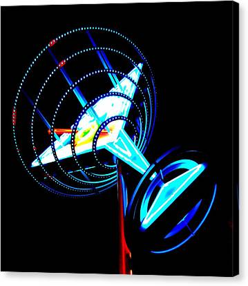 Neon Martini 1 Canvas Print by Randall Weidner