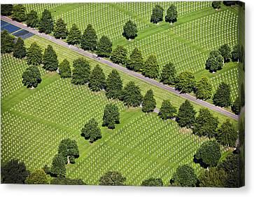 Netherlands, Margraten World War II Cemetery Canvas Print by Frans Lemmens