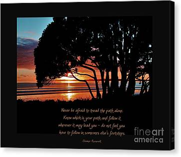 Never Be Afraid....... Canvas Print by Karen Lewis
