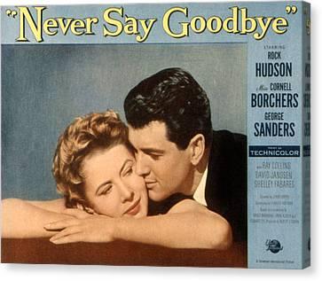 Never Say Goodbye, Cornell Borchers Canvas Print by Everett