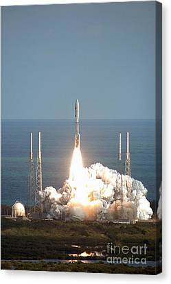 New Horizons Spacecraft Launch Canvas Print by NASA / Kennedy Space Center