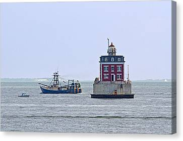 New London Ledge Lighthouse. Canvas Print by David Freuthal