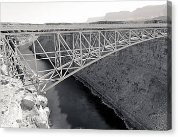 New Navajo Bridge Bw Canvas Print by Julie Niemela