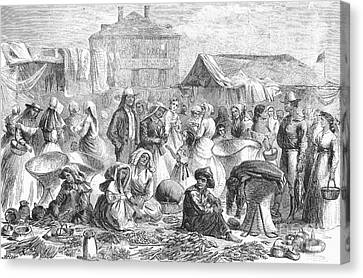 New Orleans: Market, 1866 Canvas Print by Granger