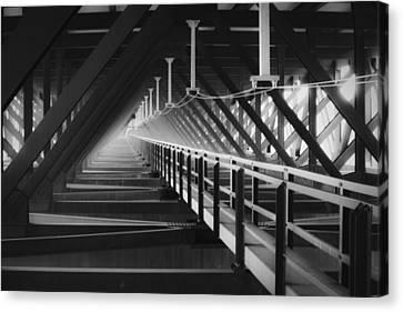 New River Gorge Bridge Catwalk Canvas Print by Teresa Mucha