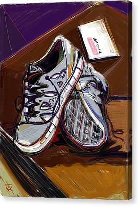 New Sneaks Canvas Print by Russell Pierce
