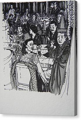 New Year's Eve 1950's Canvas Print by Marwan George Khoury