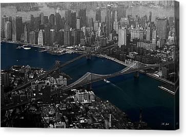 New York Aerial Canvas Print by Ms Judi