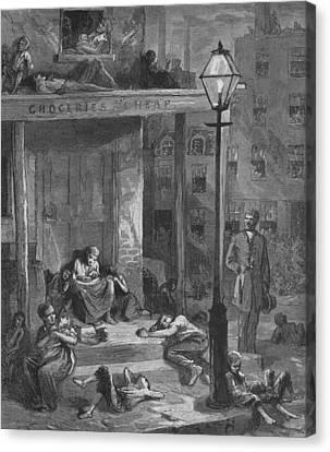 New York City Tenement Dwellers Canvas Print by Everett