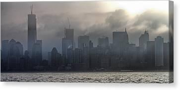 New York Fog Canvas Print by Farol Tomson